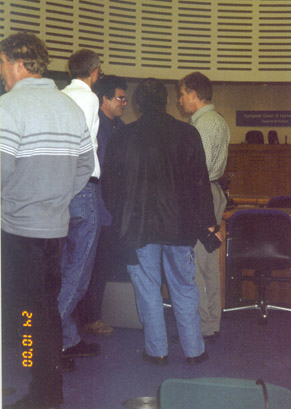directly after the hearing in the Courtroom