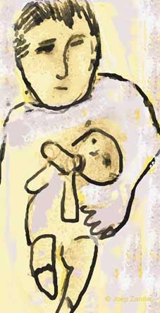 vader en kind, beeldrecht <A title=